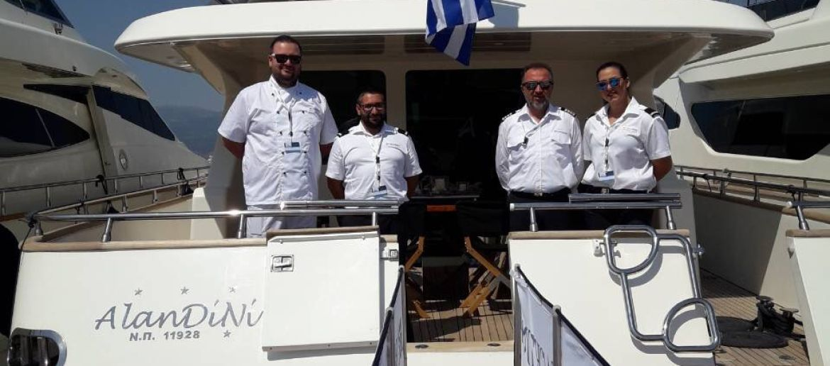 M / Y AlaNDiNi participated in the East Med yacht show at the ZEA marina.